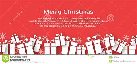 christmas banner  gift boxes stock illustration image