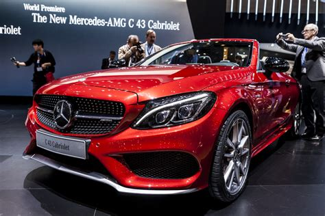 convertible mercedes red geneva 2016 mercedes amg c43 cabriolet