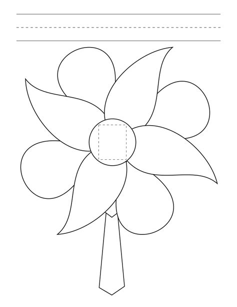 flower template with 6 petals my general confrence flower garden s ness