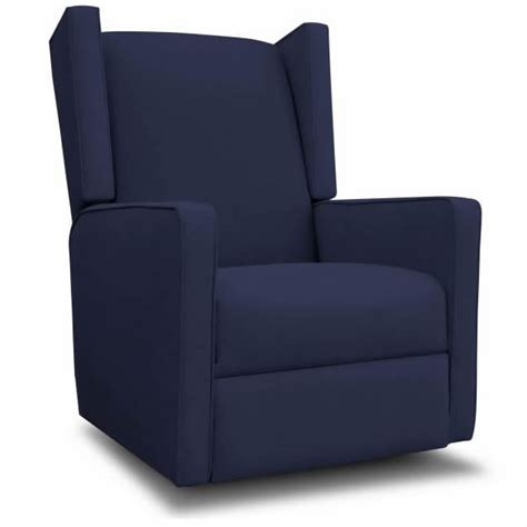 Recliners For Adults by Wing Recliner Glider In Marine W White For Adults