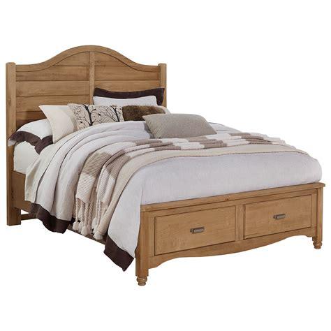 shiplap queen bed vaughan bassett american maple queen shiplap storage bed
