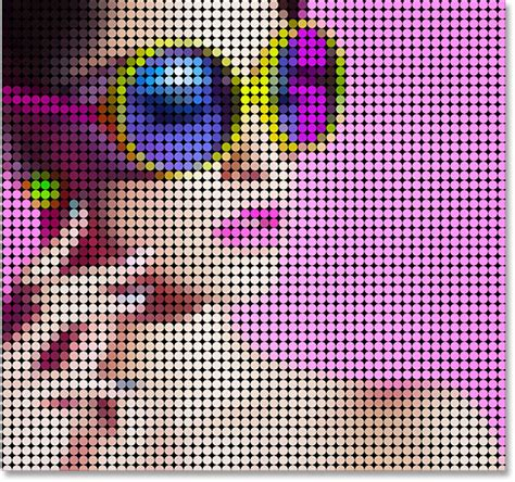 dot pattern effect turn a photo into a pattern of color dots with photoshop