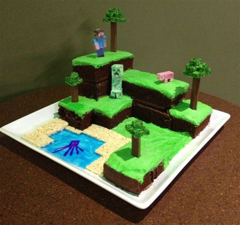 How To Decorate A Minecraft Cake by 25 Best Ideas About Easy Minecraft Cake On