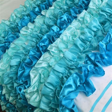 teal ruffle bedding teal bedding