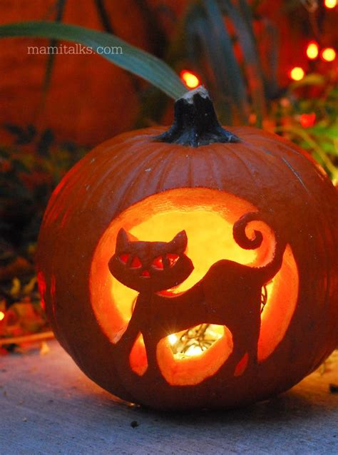 cat pumpkin tips for carving pumpkins