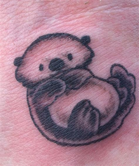 otter tattoos sea otter of mine he is ink