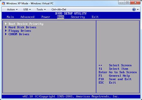 reset password xp virtual machine how to boot from cd or iso image in windows xp mode