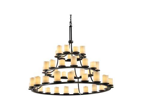 Faux Candle Chandelier Faux Candle Chandelier 9 Light Ring Black Creme Faux Candle Chandelier U1143 Ls Plus