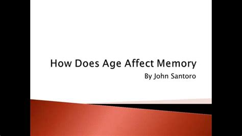 how does color affect memory how does age affect memory