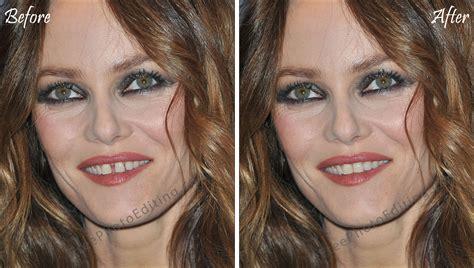 photo retouching   teeth gap correction vanessa