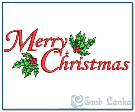 merry christmas embroidery design emblankacom