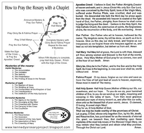 printable instructions on how to pray the rosary kennedy s rosary project how to pray the rosary with a