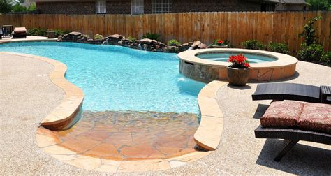 Backyard Pool And Spa Swimming Pool Remodeling Bryan College Station Brazos Valley