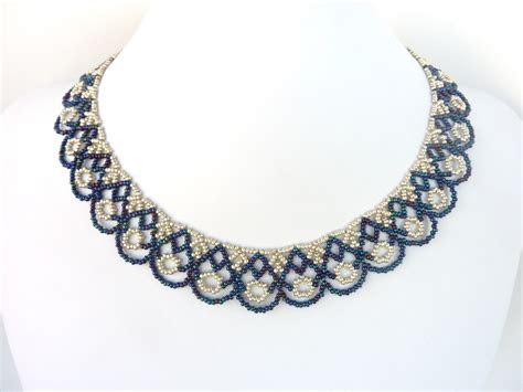 jewelry pattern download free beading pattern for scalloped lace necklace