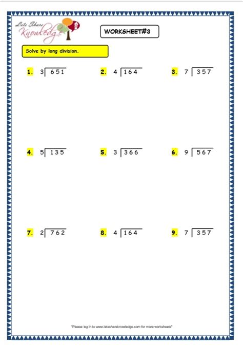 division worksheets without remainders kidz activities
