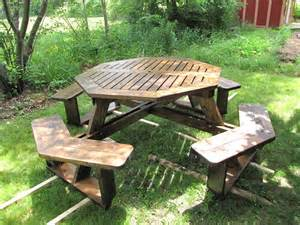 Free Easy Octagon Picnic Table Plans by Walk In Picnic Table Plans