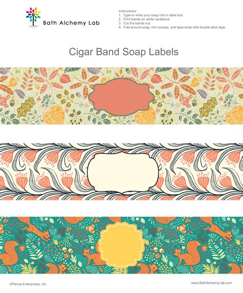 5 Best Images Of Free Printable Soap Wrappers Christmas Soap Wrapper Cigar Band Soap Labels Soap Band Template