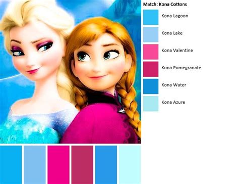 film frozen ke 3 elsa anna color scheme disney princesses pinterest