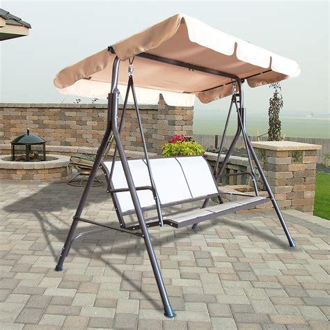 3 person outdoor swing 3 person canopy swing glider hammock patio furniture