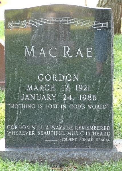 gordon macrae gravesite