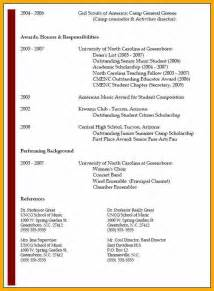 Resume Exles With Education Listed 6 Resume Education Bursary Cover Letter