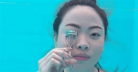 makeup tutorial questions this vlogger did a makeup tutorial underwater we have so