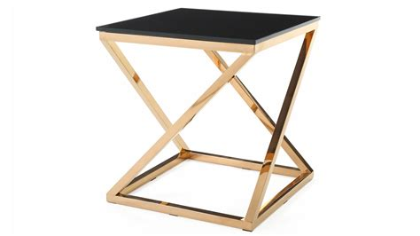 gold and glass end table modern gold and black glass geo end table zuri