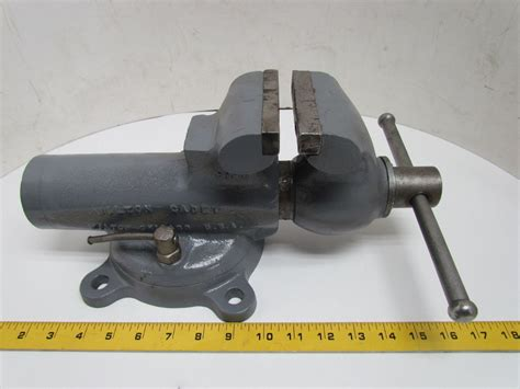 4 bench vice wilton cadet 4 quot bench vise w swivel base 5 quot opening usa ebay