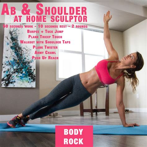 at home shoulder and ab sculptor workout eat healthy
