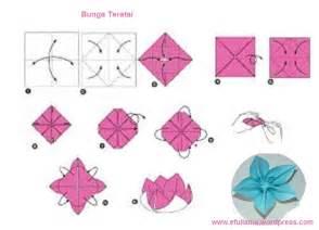 Origami Bunga Ros - cara membuat origami flower comot