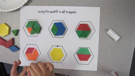 pattern block pictures kindergarten hexagon pattern blocks activity worksheets google search