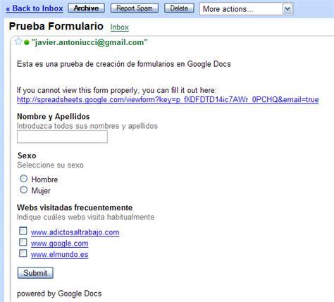 imagenes google docs crear formularios con google docs adictosaltrabajo
