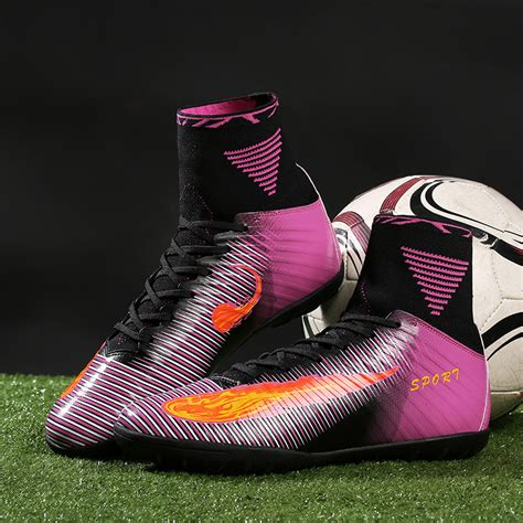 futsal football shoes new design football boots high top tf indoor futsal