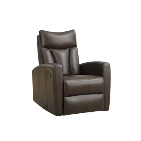 Swivel Glider Recliner Leather by Padded Back Swivel Glider Leather Recliner In Brown