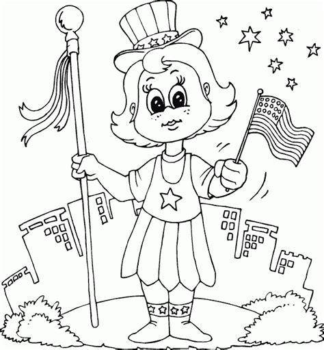 Patriotic Girl Coloring Page Coloring Com Patriotic Coloring Pages