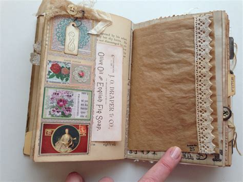 Handmade Book Ideas - vintage ephemera junk journal altered books junk