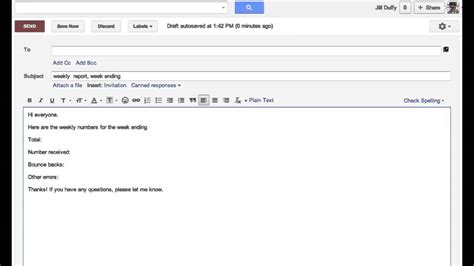 Up Email Template Get Organized Setting Up Email Templates Youtube
