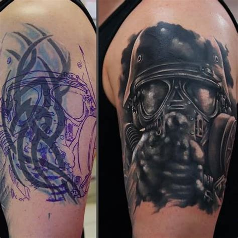 men upper sleeve cover up with outstanding soldier and