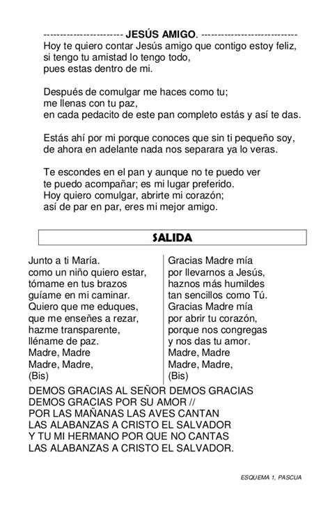 canciones para misa cantos misa pascua esquema 1