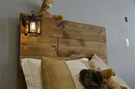 wood twin headboard with built in lighting cordoba