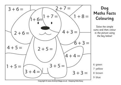math puppy coloring worksheet coloring pages