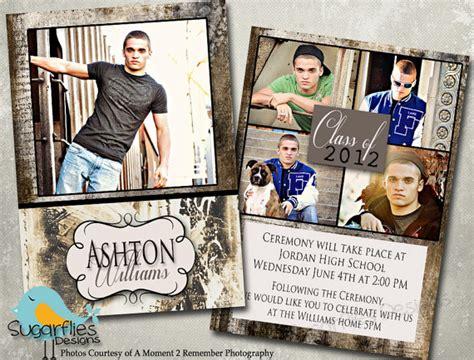 Graduation Announcement Photoshop Template Senior Graduation 3 Announcement Templet High School Graduation Announcements Templates