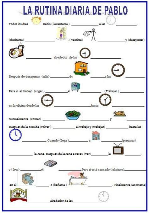 Verbos Reflexivos Y Rutina Diaria Con El Sr Bean Vocabulario | la rutina el presente google ejercicio and worksheets