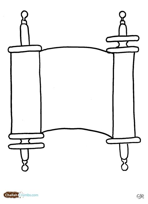 Scroll Coloring Page Scroll Writing On A Coloring Page Coloring Pages by Scroll Coloring Page