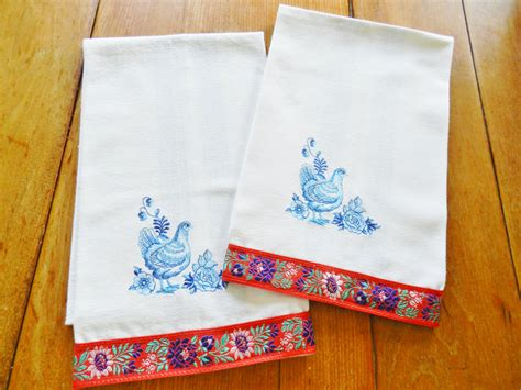 country kitchen towels country kitchen towels rooster country towels nos