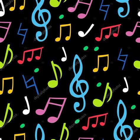 imagenes de notas musicales en colores patr 243 n transparente de vector de las notas musicales de