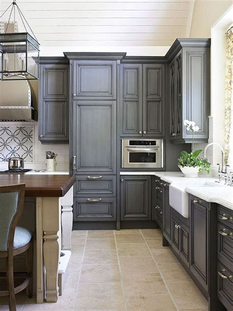 Gray Color Kitchen Cabinets | best grey color for kitchen cabinets modern home exteriors