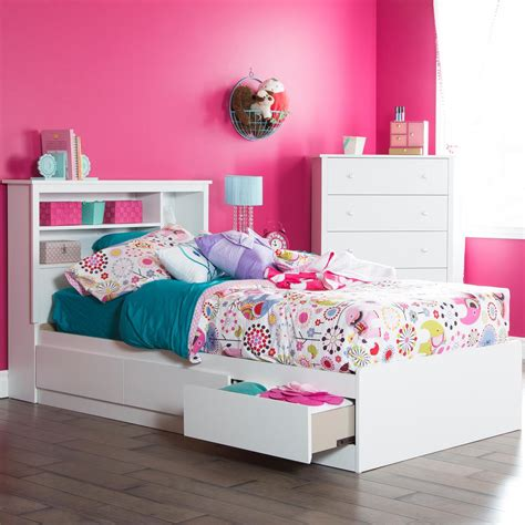 twin size bed south shore vito twin size bed frame in pure white 3150212