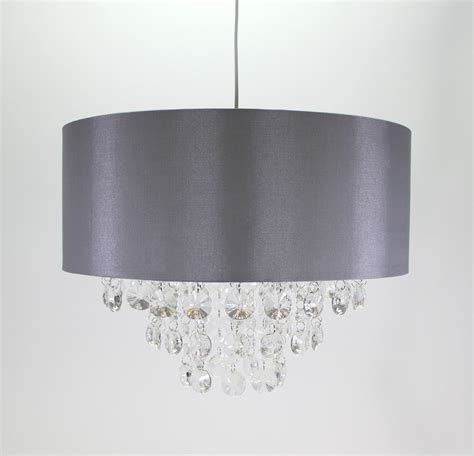 Grey Ceiling L Shades by Noble Chandelier Clear Umbrella Grey 40cm Diameter