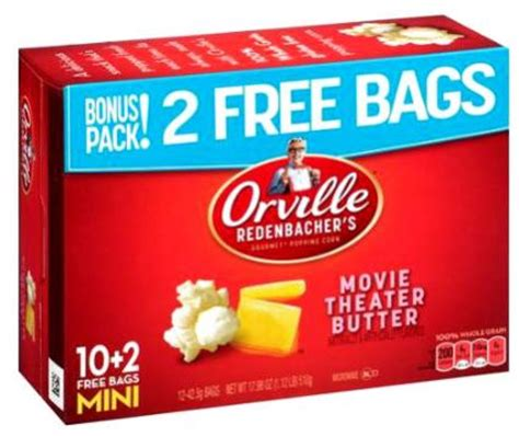 Orville Redenbacher Sweepstakes - 5 free orville redenbacher popcorn products at kroger